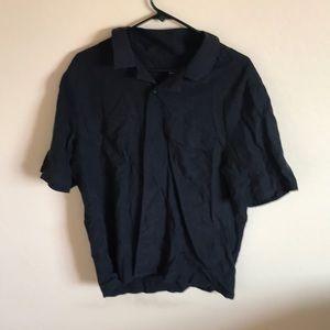 Men's Medium Black H&M Short Sleeve Dress Shirt